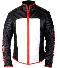 Michael Holt Fair Play Black & White Mister Terrific Leather Jacket