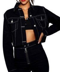 Alisha Boe Black Leather Jacket