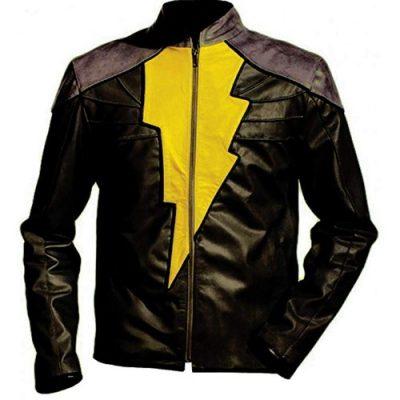 Black Faux Shazam Leather Jacket