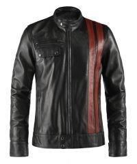 Black Frankenstein Leather Jacket