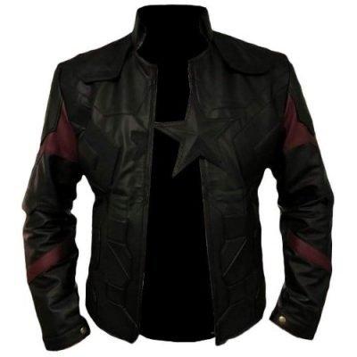 Black Genuine Captain America Leather Jacket