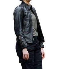 Blindspot Jane Doen Jaimie Alexander Black Leather Jacket