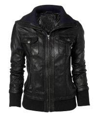 Casual Vintage Men Women Slim Fit Black Leather
