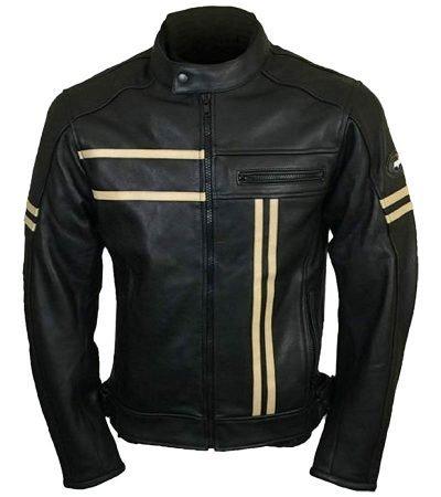 Cruiser Retro Real Leather Cafe Racer Vintage biker Jacket