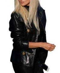 Double Breasted American Crime Story Penelope Cruz Black Leather Jacket
