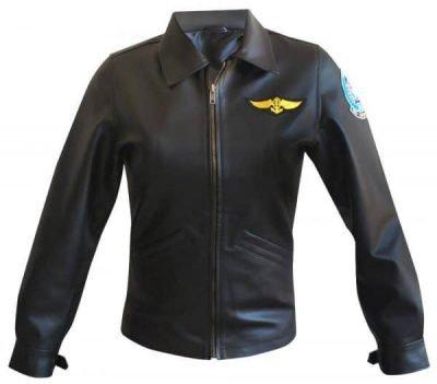Kelly McGillis Top Gun Leather Jacket