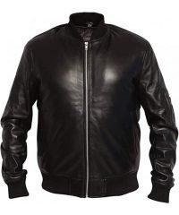 MA1 Aviator Pilot Men Leather Jacket