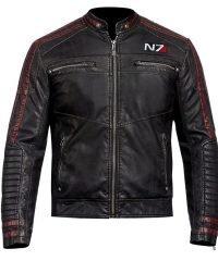 Mass Effect 3 N7 New Genuine Black Leather Jacket