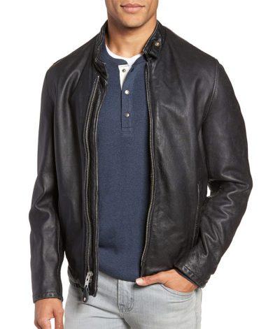 Mens Cowhide Vintage Leather Jacket