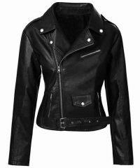 Southside Women Madelaine Putsch's Serpents Biker Leather Jacket