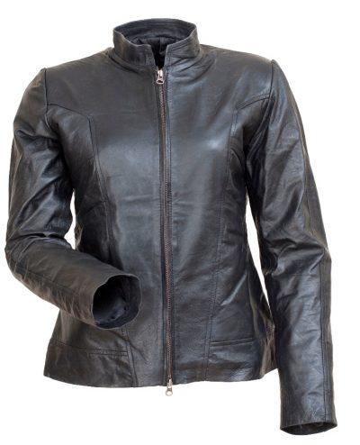 Stylish Angelina Jolie Black Leather Jacket