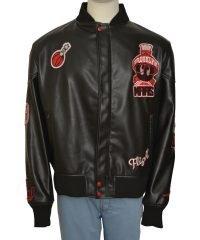 The Martian Mens Air Jordan Marvin Leather Jacket