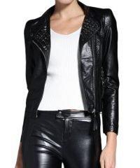 womens-faux-rivet-leather-jacket