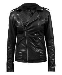 Women's Riverdale Serpents Black Leather Jacket