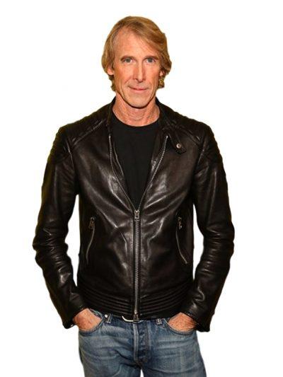 A Quiet Place SXSW Premiere Michael Bay Quilted Biker Leather Jacket