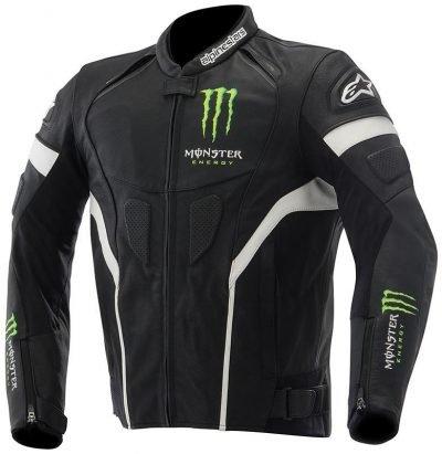 Alpinestars Monster Energy Scream Motorcycle Black Leather Jacket