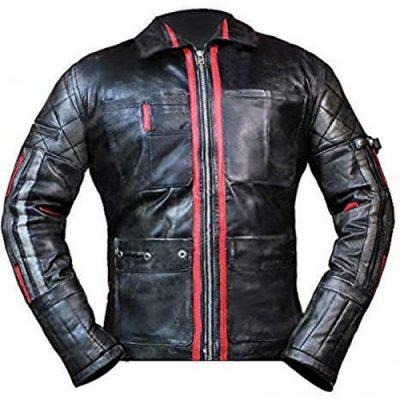 Alita Battle Angel Keean Johnson Biker Black Leather Jacket