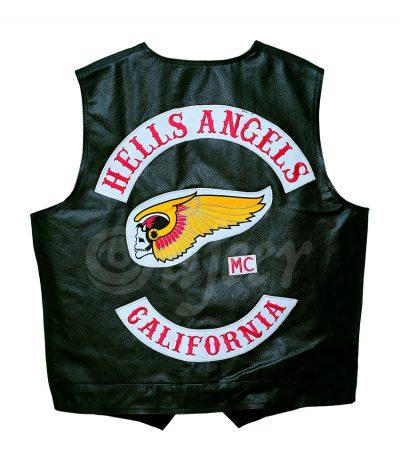 Men's Hells Angels California Leather Vest