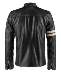 Cafe Driver Black Leather Jacket
