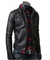 strap-pocket-slim-fit-vintage-belted-rider-leather-jacket