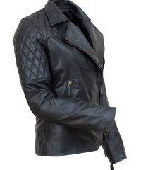 Avril Lavigne Black leather jacket