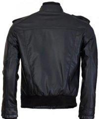 Black Bomber Arnault Leather Jacket