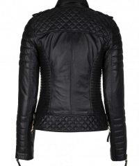 Kay Michaels Women's Slim Fit Black Leather Jacket