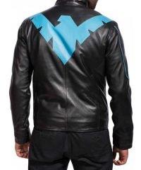 Batman Knight Nightwing Leather Jacket
