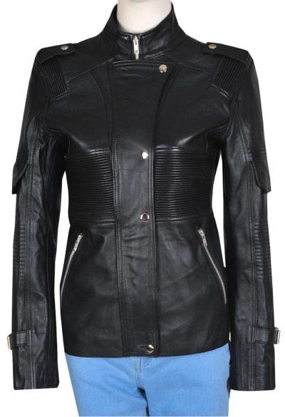 Amanda Tapping Sanctuary Helen Magnus Leather Jacket