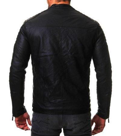 Mens Vintage Cafe Racer Slim Biker Jacket