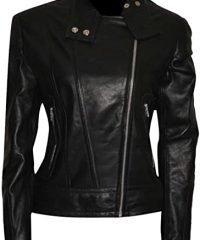 Fringe Anna Torv (Olivia Dunham) Slim Fit Black Leather Jacket