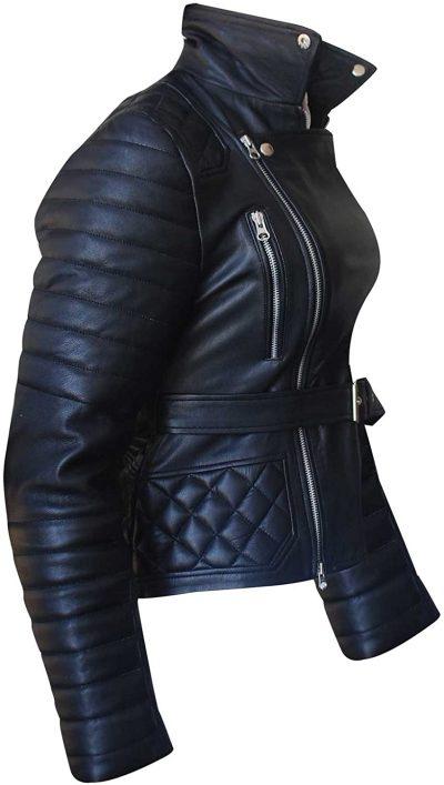 Rachel Bilson Rocks Biker Jacket