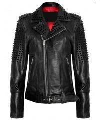 Black Spikes Studded Jacket