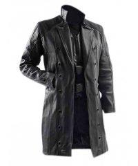 Adam Jensen Deus Ex Human Revolution Game Trench Leather Coat