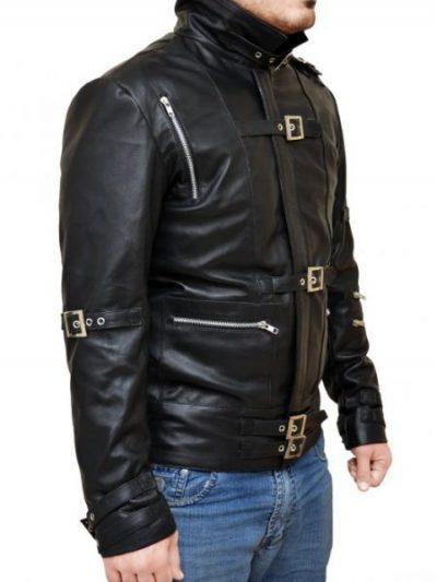 Appealing Michael Jackson Bad Black Leather Jacket
