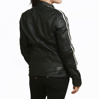 NOS4A2 Vic McQueen Black Biker Leather Jacket