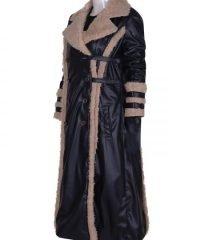 Asia Argento Movie Triple x Leather Fur Jacket
