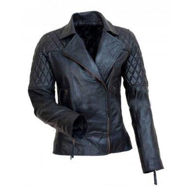 Avril Ramona Lavigne Black Leather Jacket