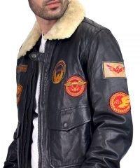 B3 Flying Aviator Pilot Bomber Leather Jacket