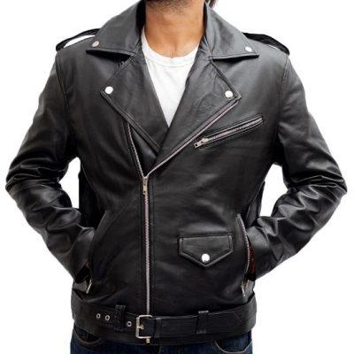 Biker Black Leather Jacket