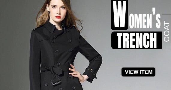 Banner-Womens Trench Coat