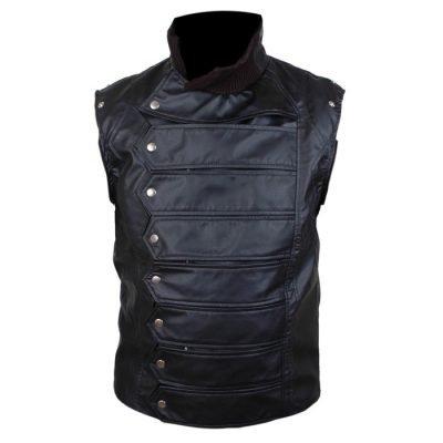 Bucky Barnes Movie Leather Jacket
