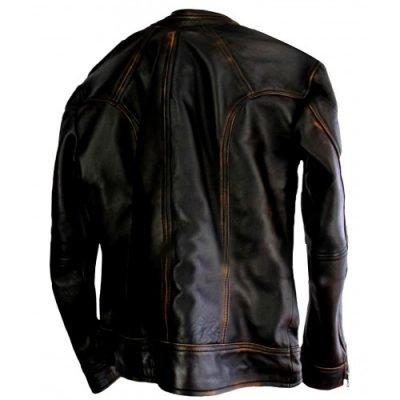 Cafe Racer Vintage Biker Distressed Brown Motorcycle Leather Jacket