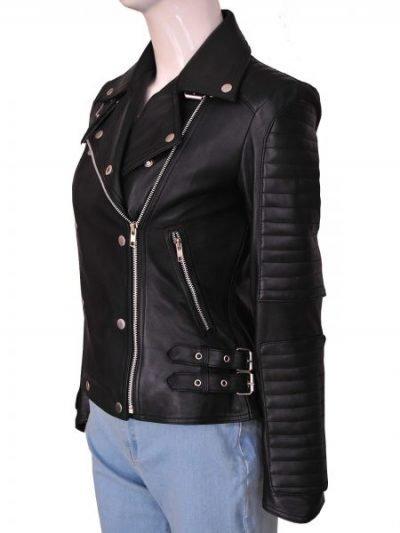Cara Delevingne Stylish biker's Leather jacket