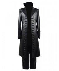 Once Upon Time Season 5 Captain Killian Jones Leather Coat