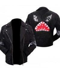 Daft Punk Instant Crush Shark Black Leather Jacket