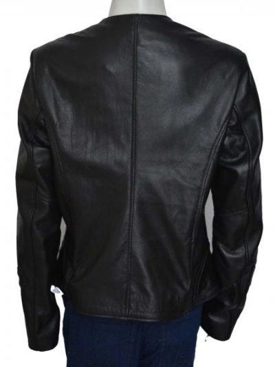 Melissa O'Neil Black Leather Women's Dark Matter Costume Jacket
