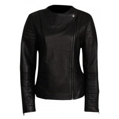 Doctor Who Clara Oswald (Jenna Coleman) Black Leather Jacket