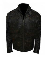 Christopher Egan Dominion Motorcycle Black Leather Jacket