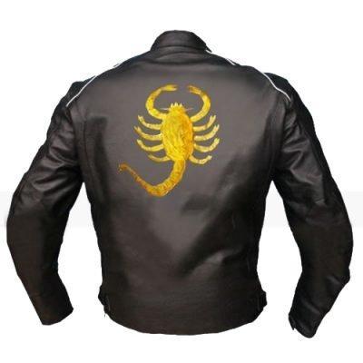 Drive Scorpion Ryan Gosling Biker Black Leather Jacket